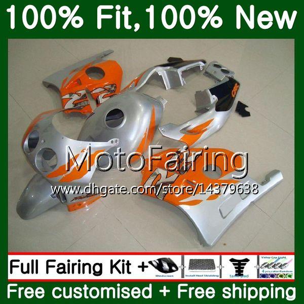Injection +Tank For HONDA CBR 250RR CBR250RR 95 96 97 98 99 Orange silver 77MF22 MC22 CBR250 RR 1995 1996 1997 1998 1999 Fairing Bodywork