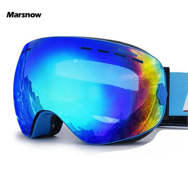 Marsnow Gafas de esquí Niños Niño Niña Hombres Mujeres antivaho UV400 gafas de esquí snowboard máscara de snowboard Gafas Gafas Puntos
