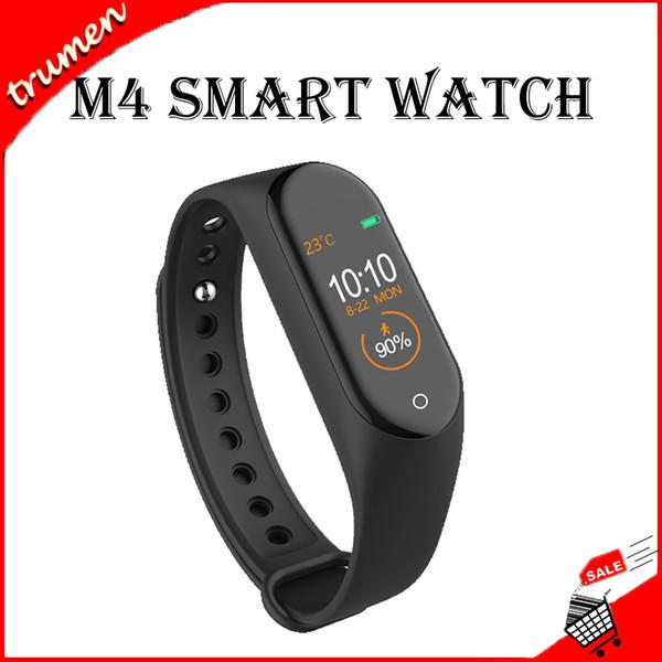 M4 Akıllı Bant Spor Tracker İzle Sport 0.96 inç Smartband Monitör Sağlık Bileklik PK mil Band 4 Nabız Akıllı İzle bilezik