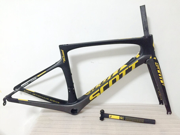 Yellow Foil carbon bicycle frame road bike frameset full carbon Road Bike Frame PF30 47/49/52/54cm/56cm
