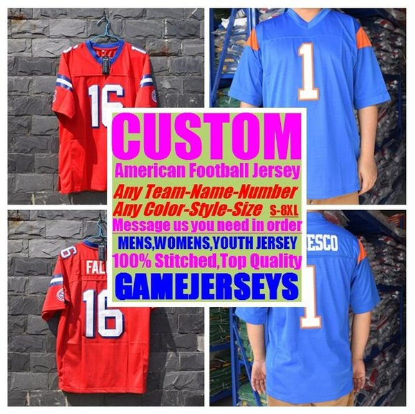 best selling Custom college american football jerseys mens womens youth kids soccer rugby stitched authentic jersey 4xl 5xl 6xl 7xl 8xl athletic shirts