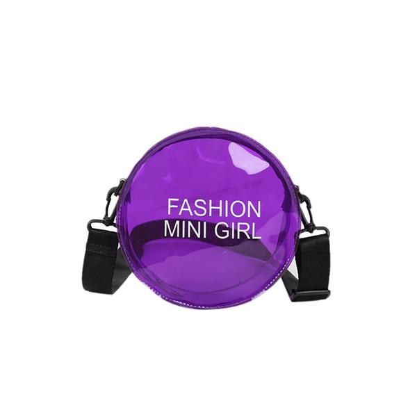 2b9aa5505 Compre Nuevo Bolso De Hombro Elegante Para Mujer, Bolso De Mensajero Simple  Para Niñas, Paquete Redondo Transparente De Verano, Bolsos De Hombro ...