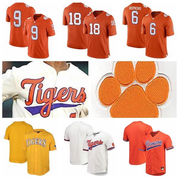 Custom Clemson Tigers Sammy Watkins DeAndre Hopkins Shaq Lawson Football Baseball Game Jerseys Any Name Any Nmuber