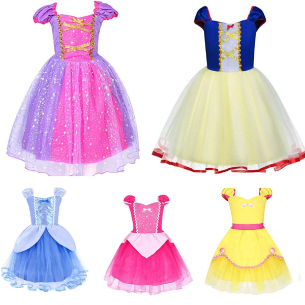 best selling Girl Princess Rapunzel Costume Baby Costume Party Dress Up For Halloween Christmas Birthday Kids Children Lace Party Clothing B122