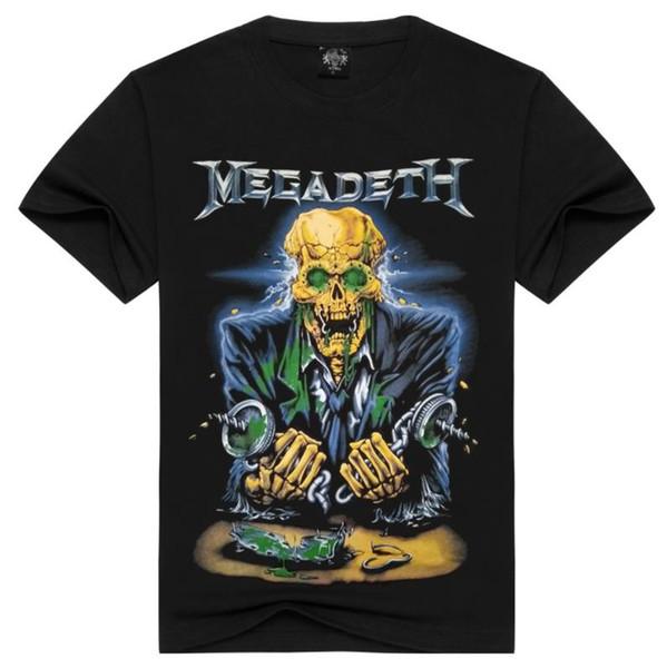 Megadeth Tshirt Summer Mens Abbigliamento 3D stampato a maniche corte Top maschili Tees