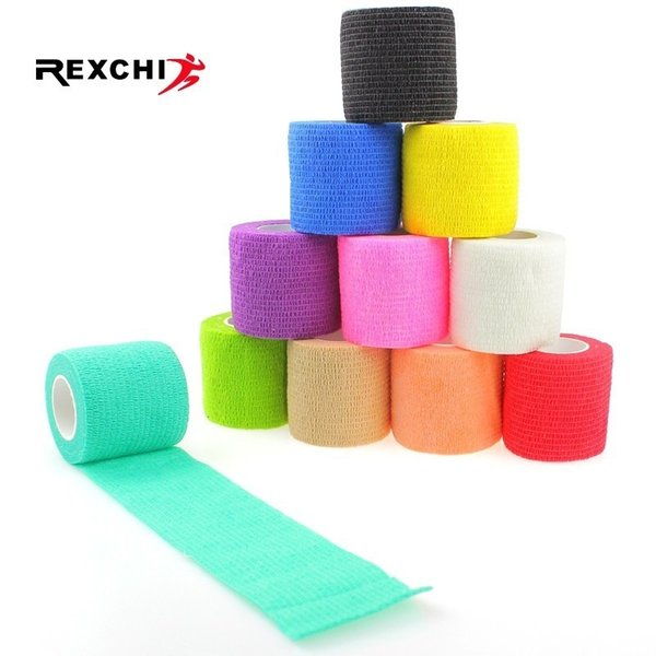 Sports Safety Self Adhesive Elastic Bandage Non-woven Fabric Tape Protective Gear Knee Elbow Brace Support Injury Pad 5*450cm #197813