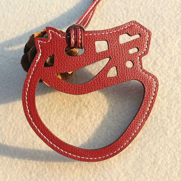 ashion gioielli portachiavi famoso designer marchio di moda di lusso animale in vera pelle carino cavallo portachiavi donne borsa portachiavi ciondolo ...