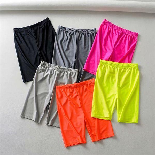 Beiläufige dünne elastische Taille des Frauenyogahosenreinen Farbensports im Freien, die kurze Hosen Sommerkleidung radfährt, kleidet neue Ankunftsart und weisegymnastik pant663 des heißen Verkaufs