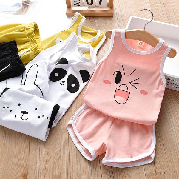 1-6year мода девочка комплекты одежды лето жилет костюмы новый детский комплект одежды