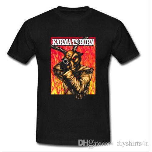 KARMA TO BURN TOUR Tshirt Black New Men's T-shirt Size S to 3XL Tee Shirt For Men Screen Printing Short Sleeve Custom XXXL Group T-Shir