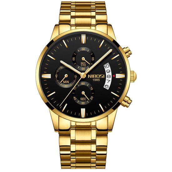 gold black S