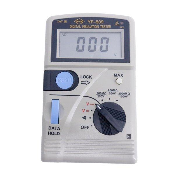 YF-509 Portable Insulation Resistance Tester 3-1/2 Digit LCD Display with Maximum Reading of 2000