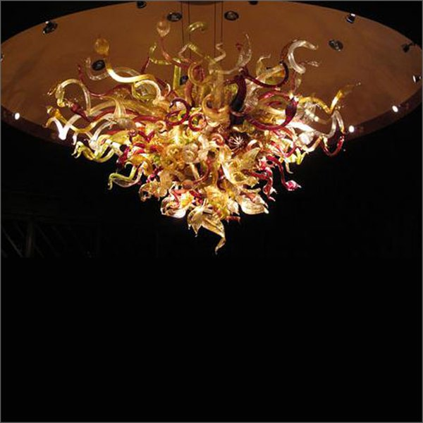 Mini House Elegant Style Hand Blown glass Chihuly Chandeliers Creative Design Crystal Hand Blown Glass Villa Lighting Chandelier