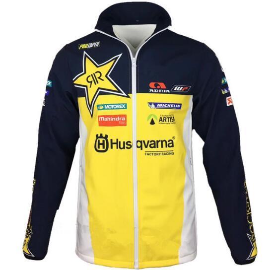 Chegada nova para Husqvarna motocross Moletons esportes Ao Ar Livre Softshell Jaqueta jaquetas de corrida de moto Com zíper Manter quente