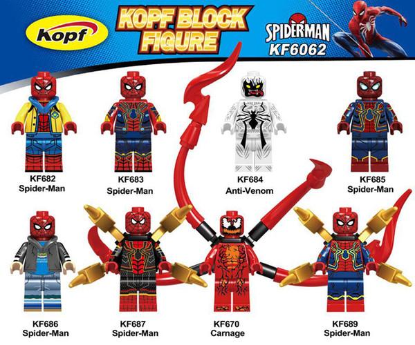 Super Heróis Spiderman Venom Homem-Aranha Venom Carnage Stan Lee Crianças Brinquedos KF6062
