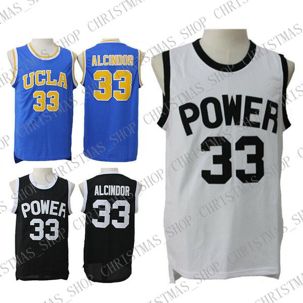 Kareem Abdul-Jabbar #33 Alcindor UCLA Power Basketball Jerseys Skyhook Jerseys Size S-XXL Free Shipping