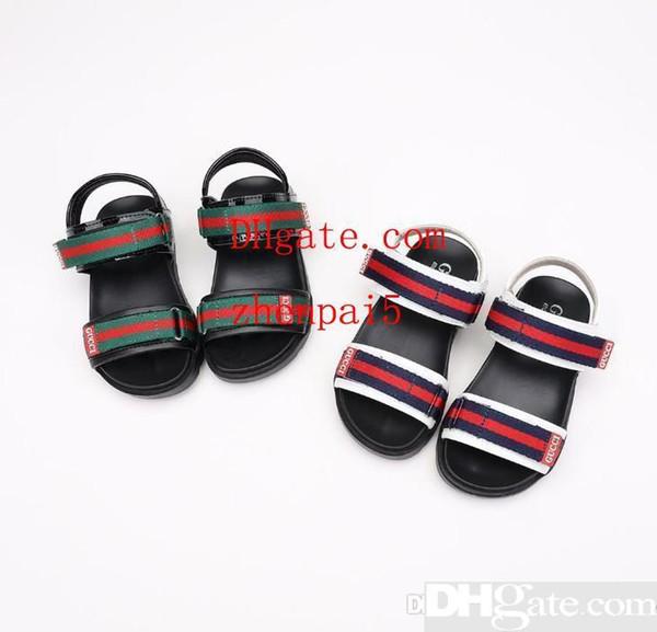 Sandalias estampadas para niños Nuevas sandalias para exterior de verano europeas y americanas 2019 Sandalias para niños Verano para niños Suela blanda antideslizante mo-sch17
