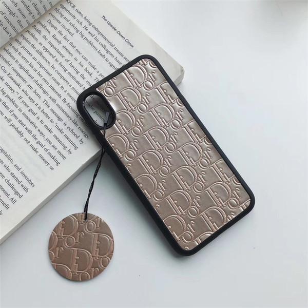 Um pedaço de luxo phone case para iphone 6 s 7 8 p x xs moda famoso logotipo impressão Designer phone back cover para presentes