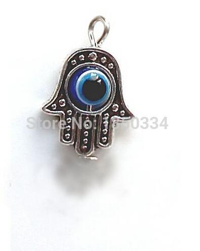 ntique silver Wholesale 50pcs Fashion Antique Silver evil eye Hamsa Fatima hand Pendant Necklace And bracelets DIY Jewelry Accessories ...
