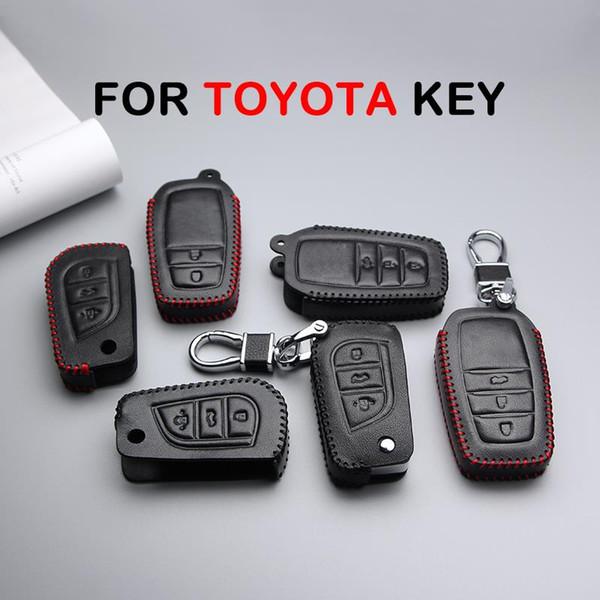 Avensis Corolla Prius Camry Vitz RAV4 C-İK Yaris Auris Araba Anahtarlık Anahtarlık Anahtarlık Ring Anahtar Kılıfı Araç Styling için