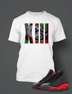 OG Grafik Tee Gömlek Maç için Unisex Baskı 13 Bred Ayakkabı Erkekler 039 s ProClub