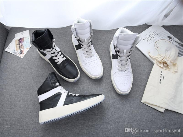 Box Size 34-46 Without Fear Of God Leather Season 5 Military Sneaker Boots Fog Made In Italy High Cut Boots
