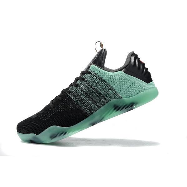 Дешевые мужские Kobe 11 элитных низкой баскетбольной обуви ретро Glow В темно-зеленый Рождество Пасха BHM Красный Синий т.п.н. Bryant XI кроссовки тенниса с коробкой