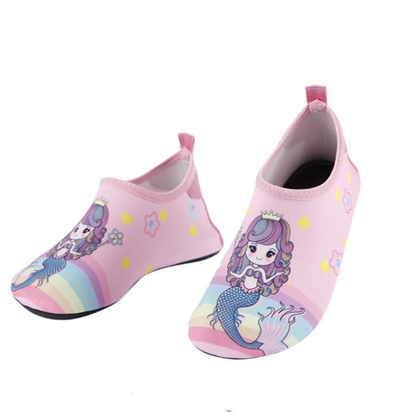Bambini Mermaid Cartoon Water Shoes Ragazzi ragazze pantofole indoor bambini suola morbida neonato bambino surf scarpe antiscivolo