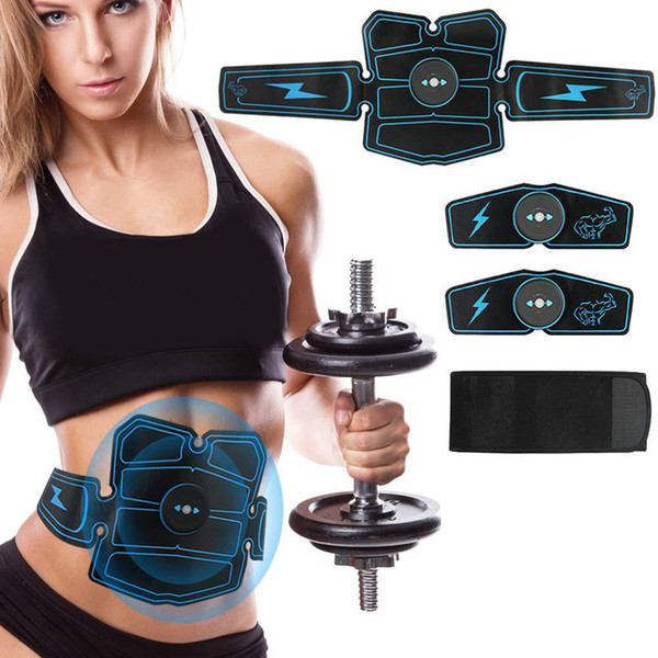 best selling EMS Abdominal Muscle Trainer Electro abdos ABS Stimulator Apparatus Toning Belt Fitness Machine Home Gym Equipment with gel pad