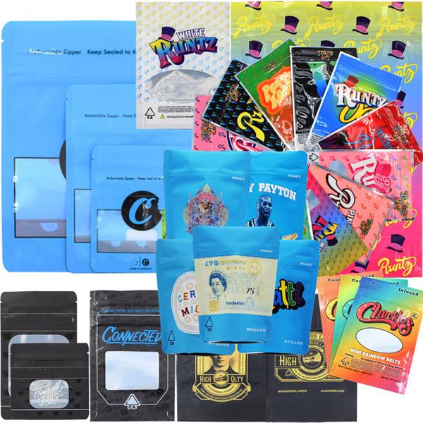 best selling Runtz Chuckles Zipper Bags Cookies Connected Jungle boys Garrison Lane Alien Labs Package Cigarettes Dry Herb Flower newest Mylar Packaging
