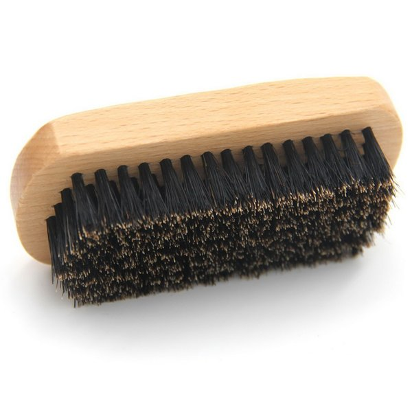 Barber Bartbürste aus Holz mit reiner Wildschweinborstenbürste für Barthaare für Männer, die ein individuelles Logo von Private Label pflegen