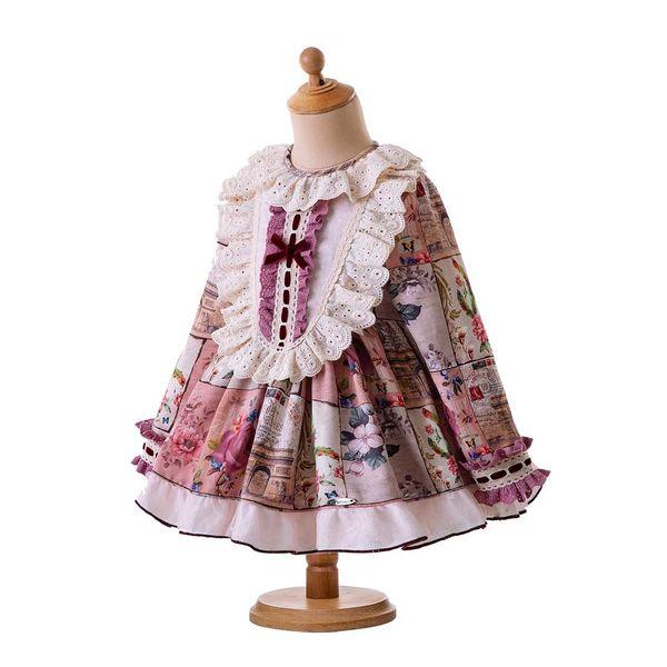4d9f4222b Pettigirl Lace Baby Girl Princess Clothing Set Flroal Clothing Set With  PP-pants Spanish Toddler Girl Designer Clothes G-DMCS106-B327