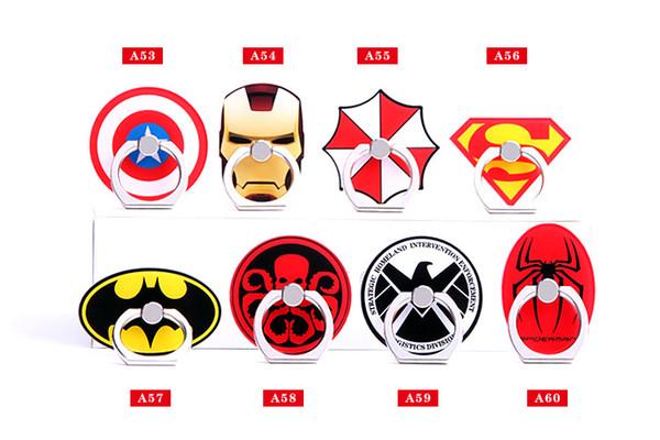 Кольцевая скобка Универсальная мода высокого качества Мультфильм милый Captain America 360 вращающийся кронштейн для мобильного телефона