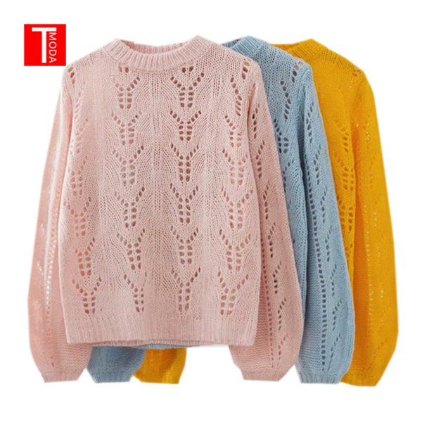 Harajuku Vintage Winter Flare Sleeve O-neck Sweater for Women Twist Solid Loose Knitted Tops Ladies Pullover Sweater Oversized