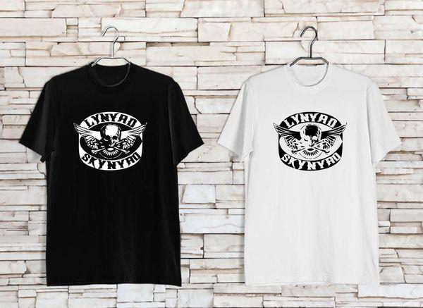 LYNYRD SKYNYRD Logotipo de Gary Rossing Rock Legend, camiseta blanca negra para hombres XS a 3XL Camiseta con estampado de Jersey en color Camiseta de alta calidad clásica