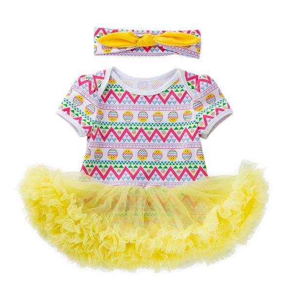 Girls Dress Vestidos Summer Easter Eggs Tutu Princess Kids Dresses Casual For Party Wedding Girls Baby Clothes Toddler 19Jan23