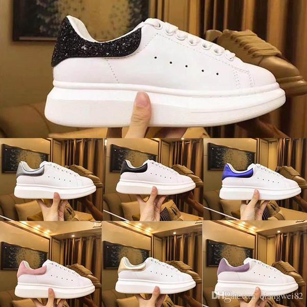 Lo nuevo de los zapatos corrientes de calidad superior para los hombres mqueen mujeres del diseñador de moda de lujo inferiores rojos Deportes zapatillas de deporte Tamaño 35-45