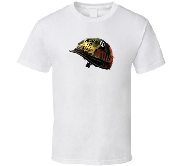 Tam Metal Ceket 80 s Kült Klasik Savaş Filmi T Shirt Rahat t gömlek Casual Kısa Kollu Baskı% 100% Pamuk Kısa Kollu T-Shirt