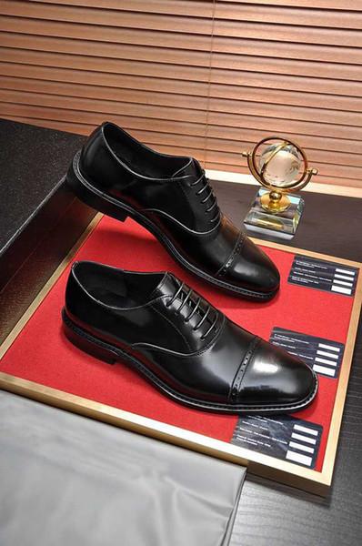 Zarif erkekler klasik iş oxfords marka parti elbise ayakkabı hakiki deri balo resmi düğün flats ayakkabı zapatos hombre boyutu 38-45