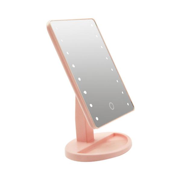 16 LED Rotierende Freistehende Touchscreen Kosmetik Einstellbare Helligkeit Home Storage Kosmetikspiegel Quadrat Schlafzimmer Eitelkeit