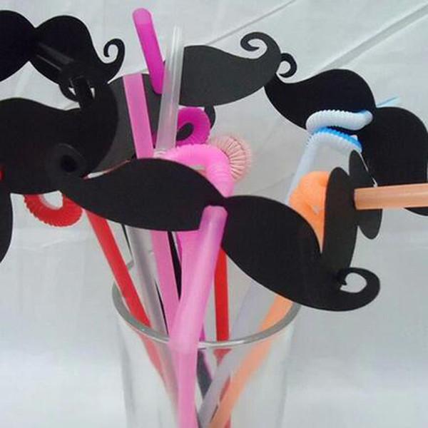 Rote reizvolle Lippe / schwarzer Schnurrbart-Papier-Dekorations-Loch 0,6 cm für Papierstrohe oder Plastikstrohe Partei-Foto-Requisiten QW9906