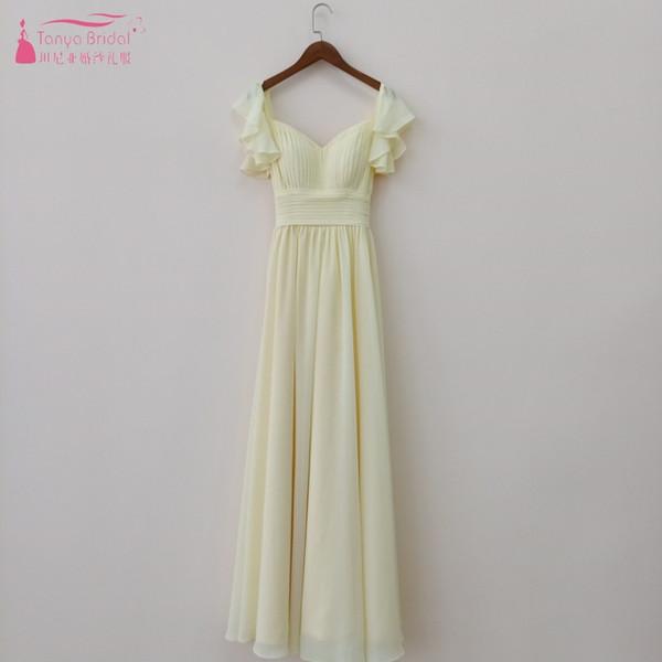 9daae98612b9 Long Prom Dresses A line Chiffon Customize Simple Elegant Spring Summer  Lady Evenig Prom Gown DQG654