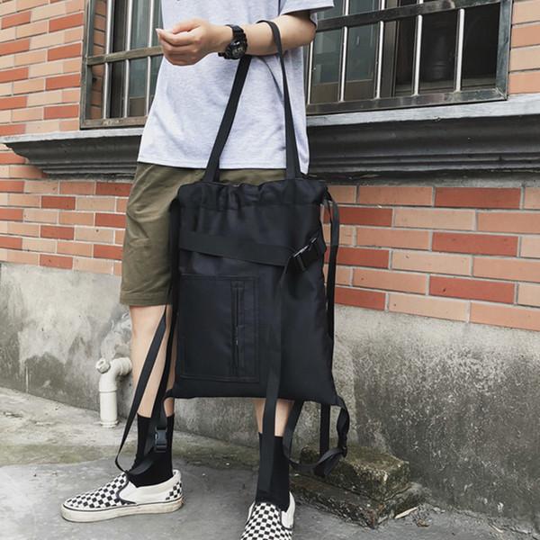 Street Style Sacs à bandoulière Hommes Femmes en nylon imperméable Messenger épaule de grande capacité pour sacs à main Voyage Casual Zipper homme