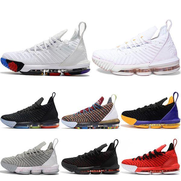 2019 new 16 16s Mens Basketball Shoes 1 Thru 5 I Promise King Oreo Fresh Bred Triple Black Lakers Sports Sneakers 7-12