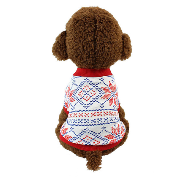 Christmas Dog Gift Pet Clothe Small Puppy Soft Coat Jacket Summer Apparel Cartoon Clothing t shirt Jumpsuit Outfit Pet Supply DHL Free