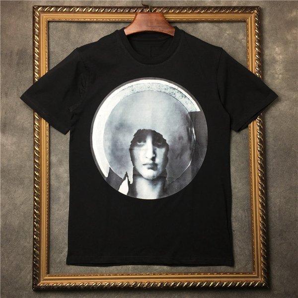 2019 Männer Dunkle Heiligenschein Jungfrau Maria T Shirts T-Shirt Hip Hop Skateboard Straße Baumwolle T-Shirts T-Shirt Top Kenia
