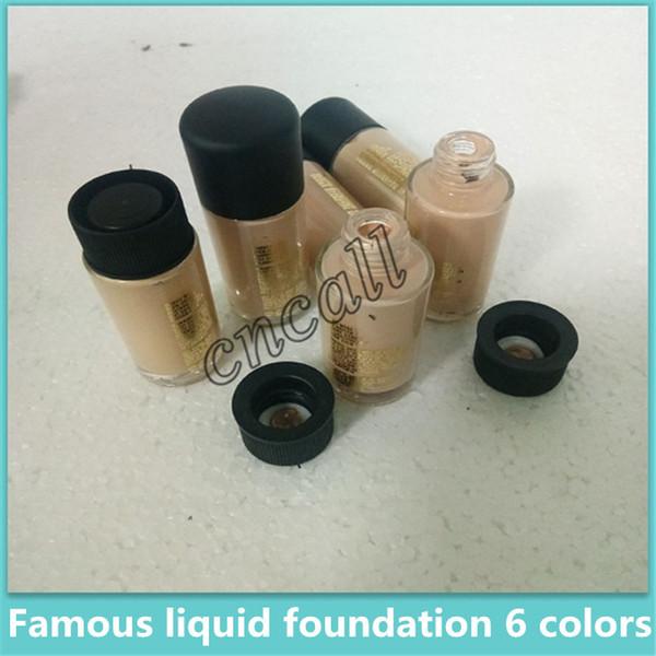 Hot Liquid Foundation NC15 NC20-NC40 6 colores 35 ml FLUJO DE ESTUDIO SPF15 Corrector Contorno líquido Alta calidad Marca de maquillaje