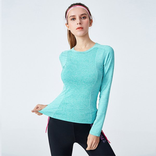 Women Yoga Top Long Sleeve T-shirt for Fitness Quick Dry Sports Tops Gym Workout Shirt Spring Fitness Seamless Tshirt Sportwear