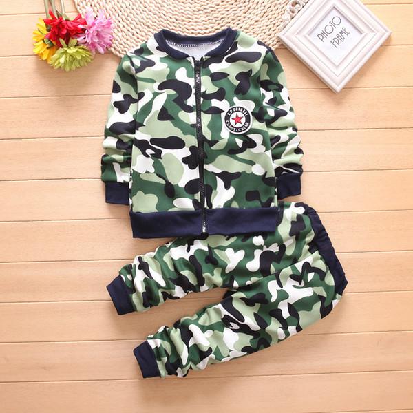 Buena calidad otoño invierno ropa para niños conjunto de algodón ropa de manga larga niños niños caliente ropa casual niños ropa deportiva 2pcs conjuntos