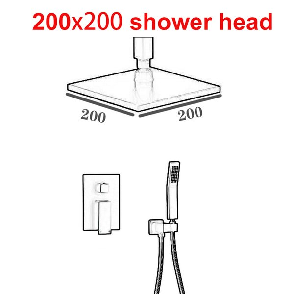 200x200 샤워 헤드 세트
